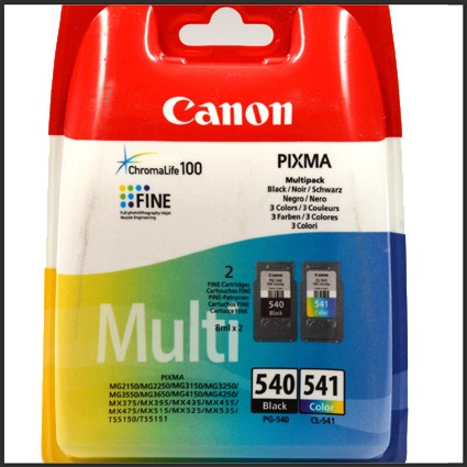 Canon PG540 / CLI541 Druckkopfpatrone Multipack schwarz+color