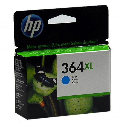 364 XL C Original Tinte Cyan für HP / CB323EE / 750 Seiten