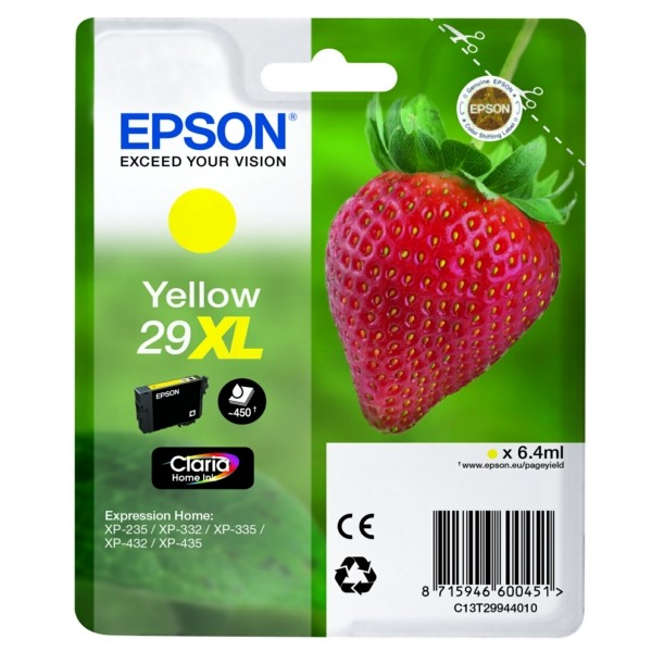 Epson 29XL Tintenpatrone gelb