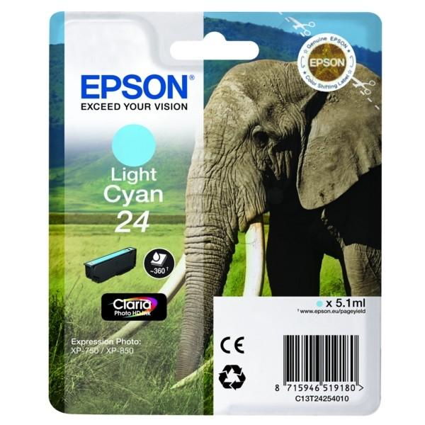 Epson 24 Tintenpatrone cyan hell