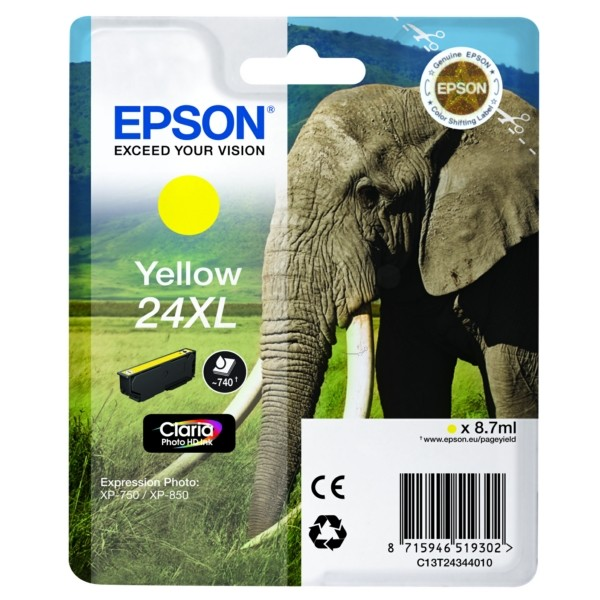 Epson 24XL Tintenpatrone gelb