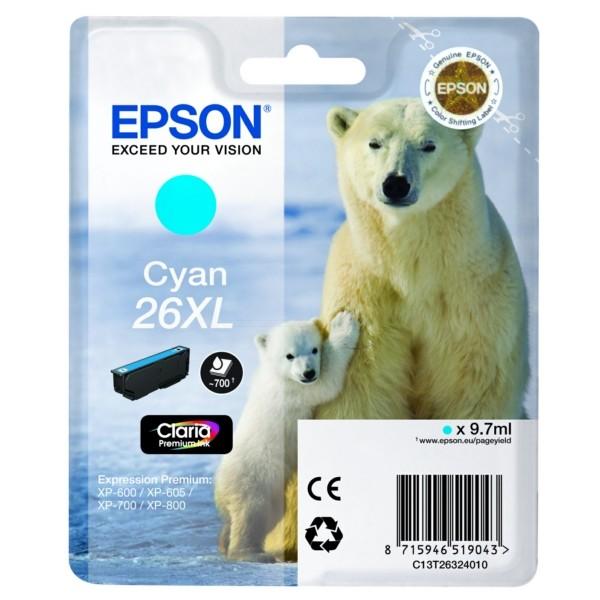 Epson 26XL Tintenpatrone cyan XL
