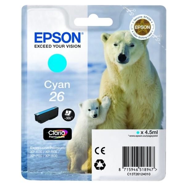 Epson 26 Tintenpatrone cyan