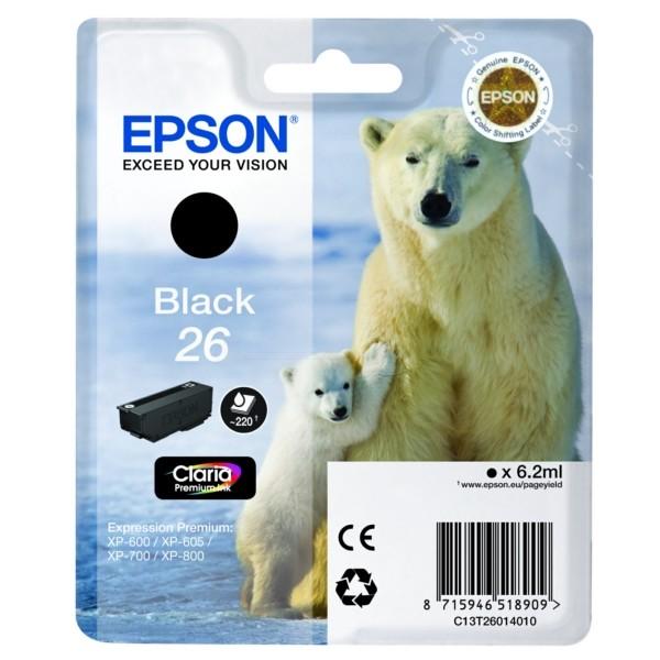 Epson 26 Tintenpatrone schwarz