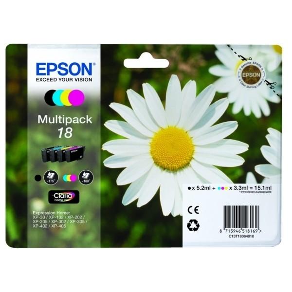 Epson 18 Tintenpatrone MultiPack Bk,C,M,Y
