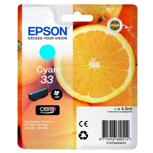 Epson 33 Tintenpatrone cyan