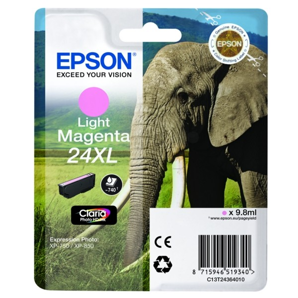 Epson 24XL Tintenpatrone magenta hell