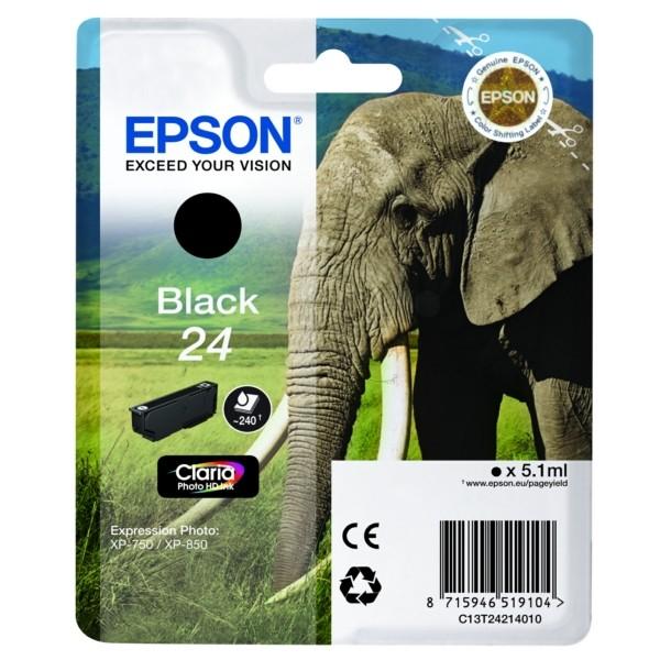 Epson 24 Tintenpatrone schwarz