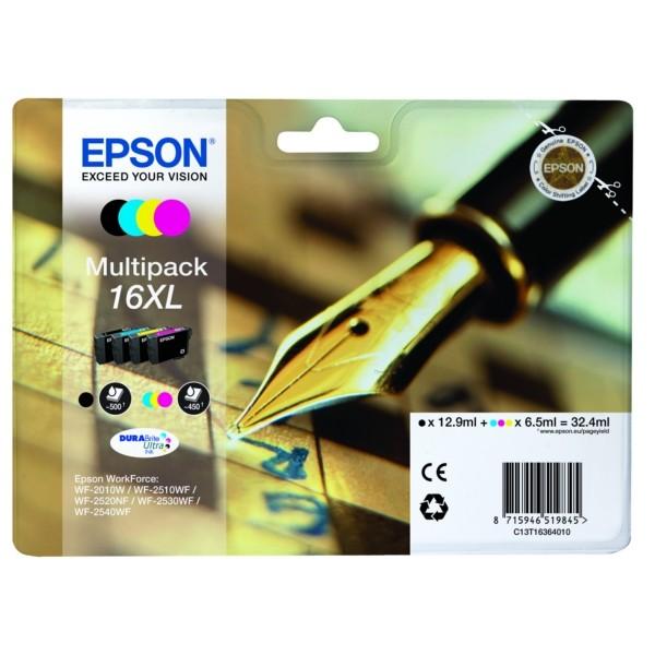 Epson 16XL Tintenpatrone MultiPack Bk,C,M,Y XL